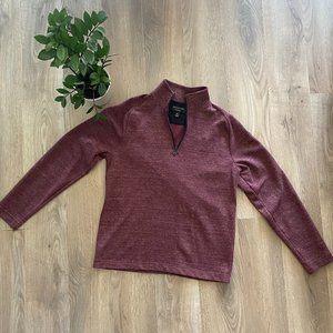 Banana Republic Burgundy Half-Zip Sweater